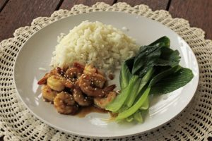 Asian chili garlic prawns recipe