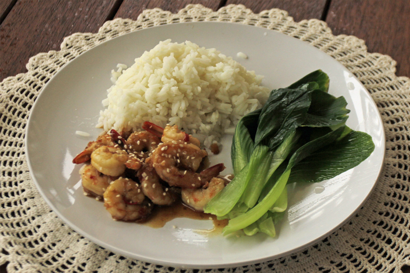 Asian chili garlic prawns recipe